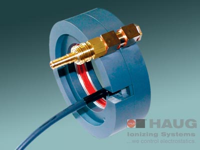 HAUG, Ring Ionizer, EI RIF, Eliminates, Static Charges, Product Conveying