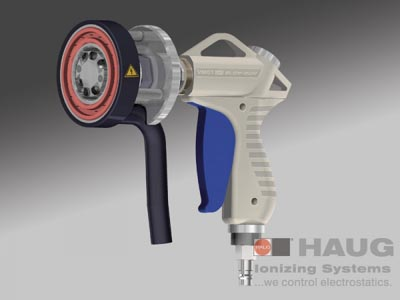 HAUG, Handheld Ionizer, Mobile Circle Cleaner, Static Charge Eliminator