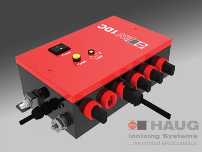 Direct Voltage Ionizing Units, HAUG, EN 1 DC, Neutralization Of Electrostatic Charges